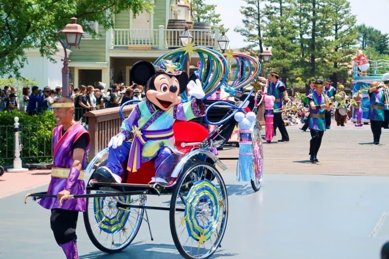 Mickey Mouse Wearing Yukata Tanabata Greeting 2017 Tokyo Disneyland