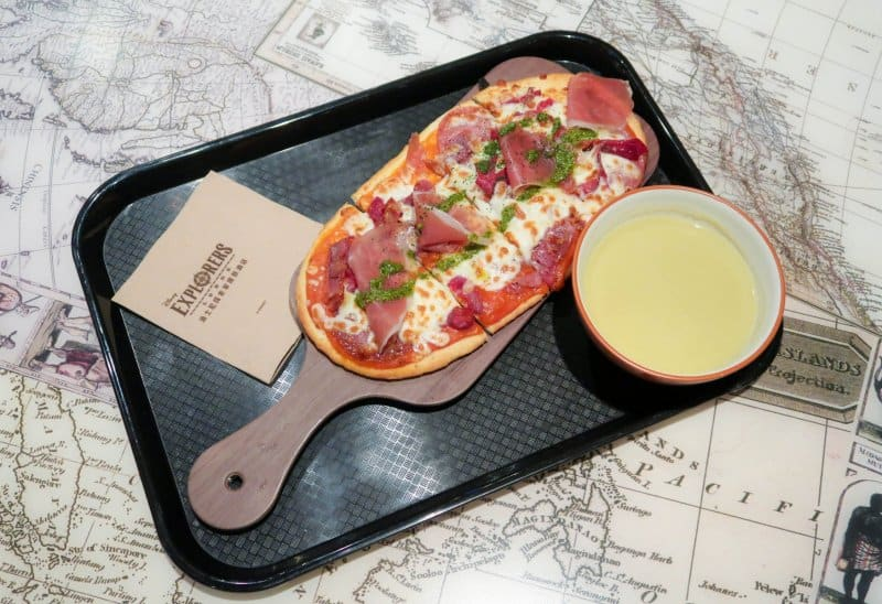 Pizza at Chart Room Cafe Disney Explorers Lodge Hong Kong Disneyland