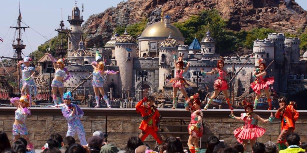 Dancers perform at Disneysea
