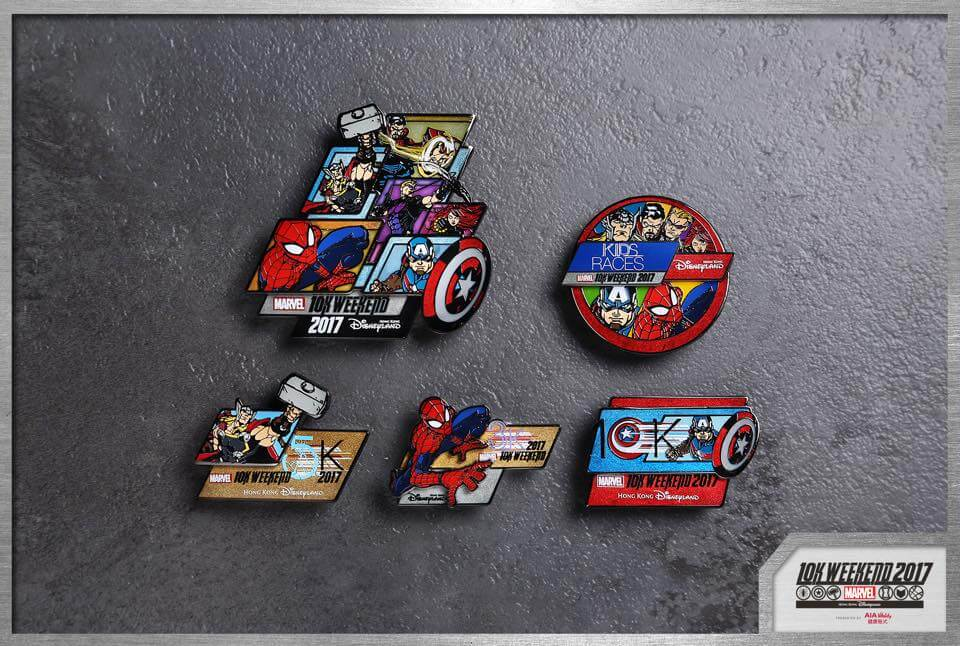 Limited edition Marvel 10k Weekend Pins