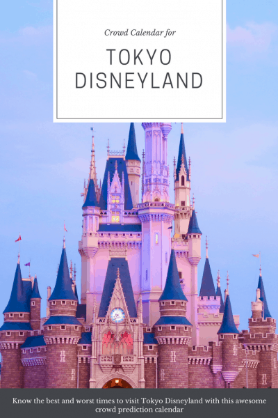 Tokyo Disneyland Crowd Calendar Pinterest