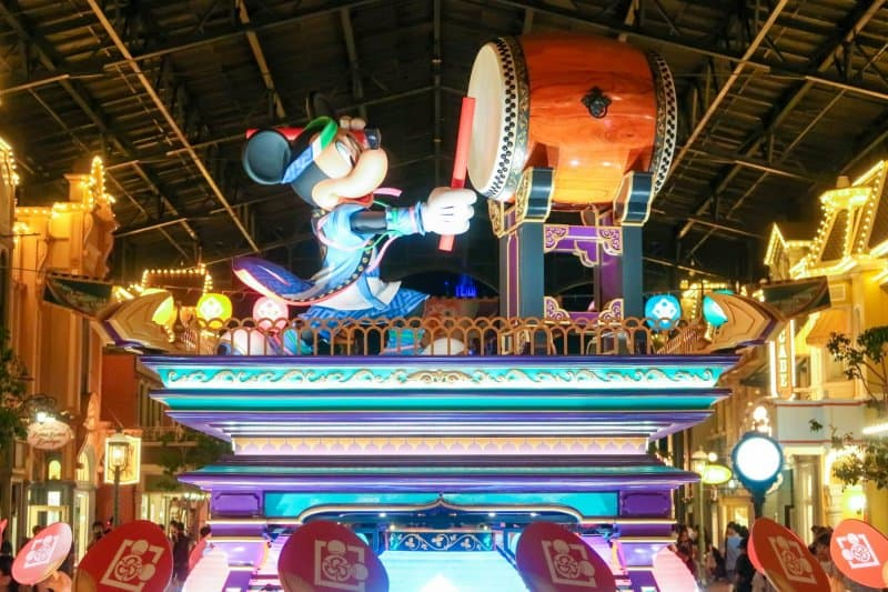 Tokyo Disneyland Natsu Matsuri Mickey Decoration Night