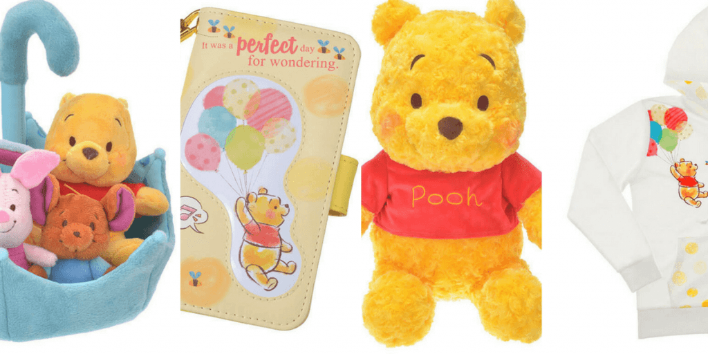 Winnie the Pooh Merchandise Available at Disney Store Japan for August 2017