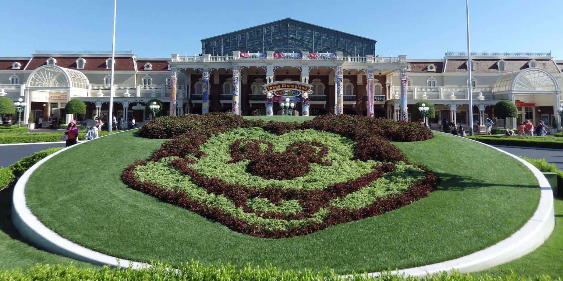 Floral Mickey at Tokyo Disneyland