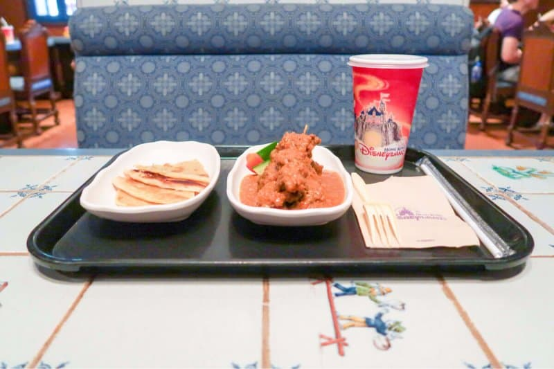 Chicken Satay at Explorer's Club Restaurant in Hong Kong Disneyland
