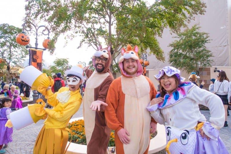 Lumiere Mrs Potts Chip n Dale Tokyo Disneyland