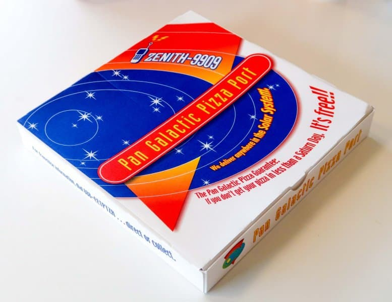 Pizza Box Pan Galactic Pizza Port