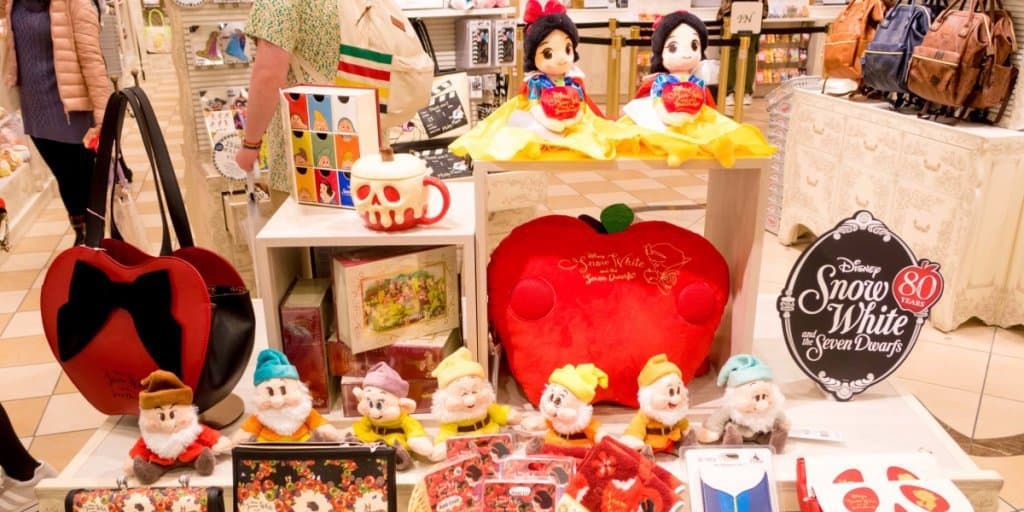 Snow White and the Seven Dwarfs 80th Anniversary Merchandise at Disney Store Japan
