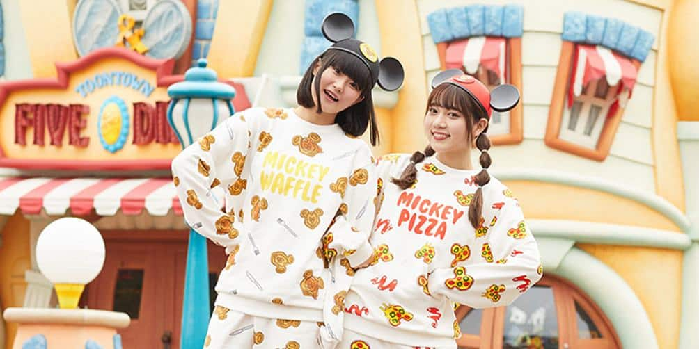 Tokyo Disneyland Launches Delicious Mickey Pizza and Waffle Clothing