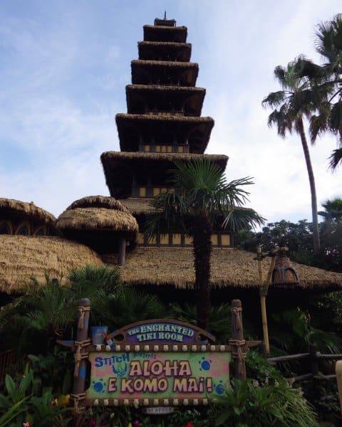TDL Tiki Room Sign and Pagoda