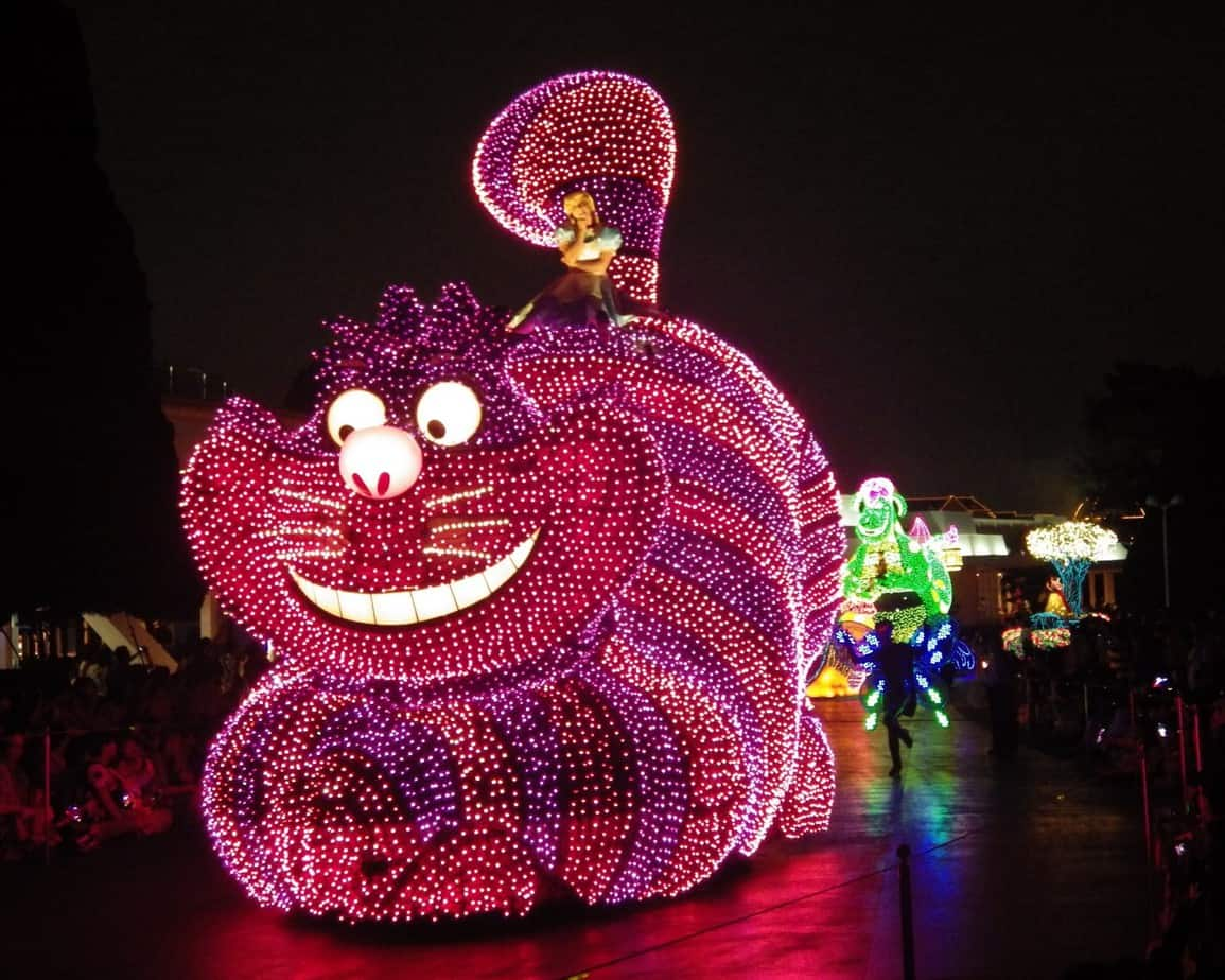Tokyo Disneyland Electrical Parade Cheshire Cat Float