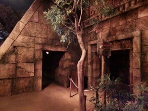 Temple of the Crystal Skull Entrance Night
