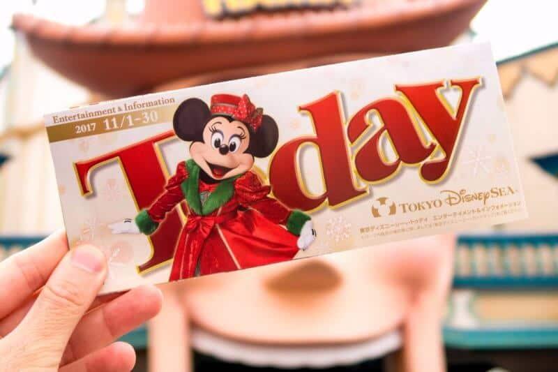 Today Guide Tokyo DisneySea November 2017
