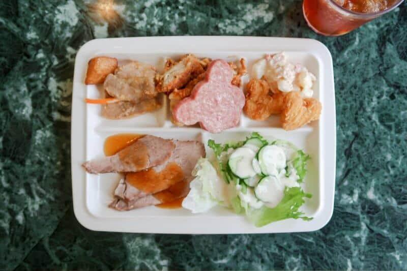 Crystal Palace Food Plate Tokyo Disneyland