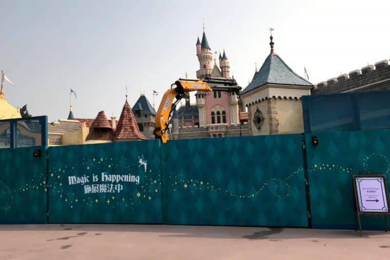 Hong Kong Disneyland Back of Castle