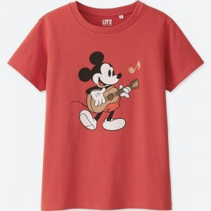 Mickey Guitar T-shirt Uniqlo Women