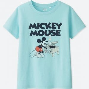 Mickey Piano T-shirt Uniqlo Women