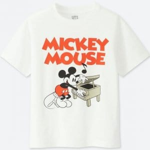 Mickey Piano Uniqlo T-shirt Kids
