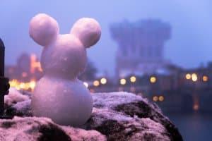 Mickey Snowman Tokyo DisneySea