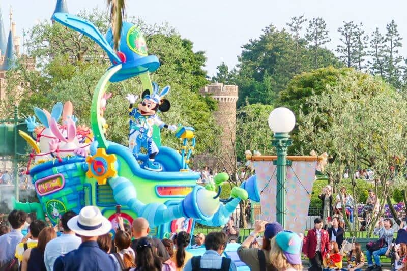 Parade View Crystal Palace Tokyo Disneyland