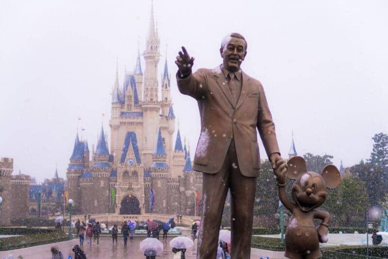 Partner Statue Snow Tokyo Disneyland