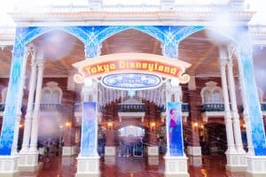 Tokyo Disneyland Entrance Snow