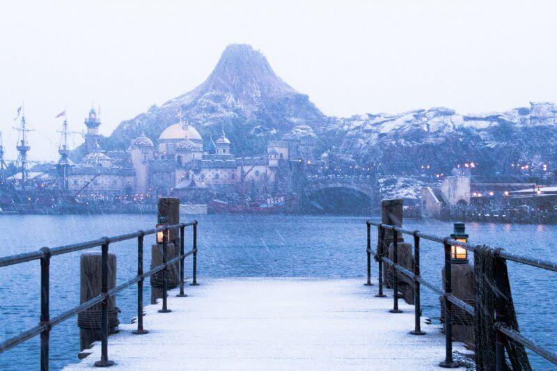 Tokyo DisneySea Mediterranean Harbor Snow