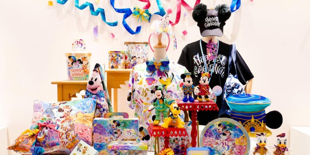 "Tokyo Disney Resort 35th Anniversary ""Happiest Celebration!"" Merchandise – Details"
