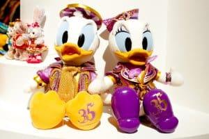 Large Donald and Daisy Plush 35th Anniversary Tokyo Disneyland