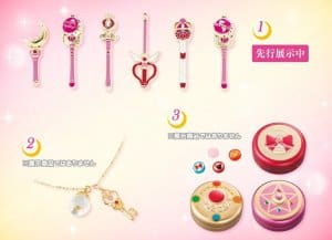 Sailor Moon pins, necklace and sweet tins