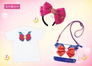 Sailor Moon bow, T-shirt and bag