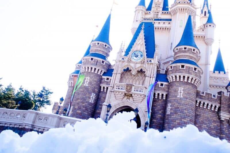 Snow at Tokyo Disneyland