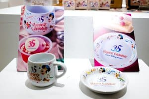 Souvenir Cup and Plate 35th Anniversary Tokyo Disneyland