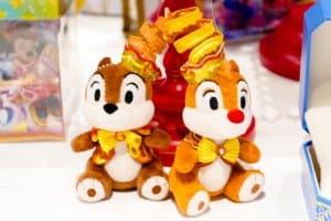 Stuffed Badge Chip n Dale 35th Anniversary Tokyo Disneyland