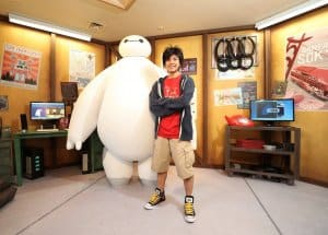 Baymax and Hiro at Hong Kong Disneyland