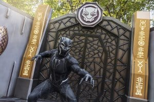 Black Panther greeting at Hong Kong Disneyland