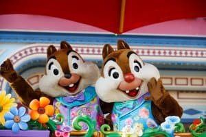Chip and Dale in the Disney Friends Springtime Processional