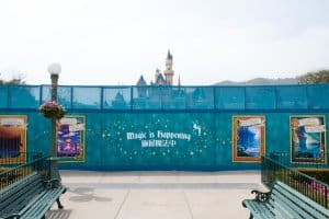 HKDL Castle Walls Front