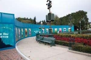 HKDL Castle Walls Hub from Side