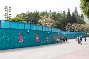 HKDL Castle Walls Hub towards Tomorrowland (Right)