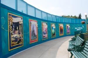 HKDL Castle Walls Poster Art from Left