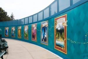 HKDL Castle Walls Poster Art from Right