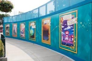 HKDL Castle Walls Poster Art (Left)