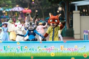Nick and Judy Lead the Disney Friends Springtime Processional