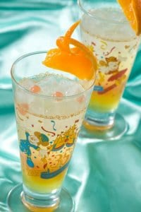 Orange Soft Drink with Collectable Glass