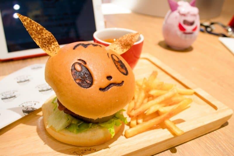 Pokemon Cafe Tokyo Eevee Burger