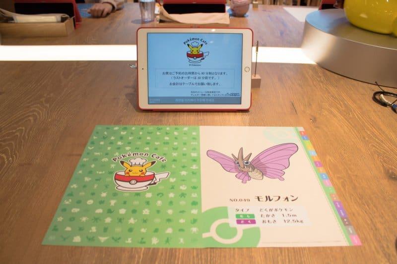 Pokemon Cafe Tokyo Placemat