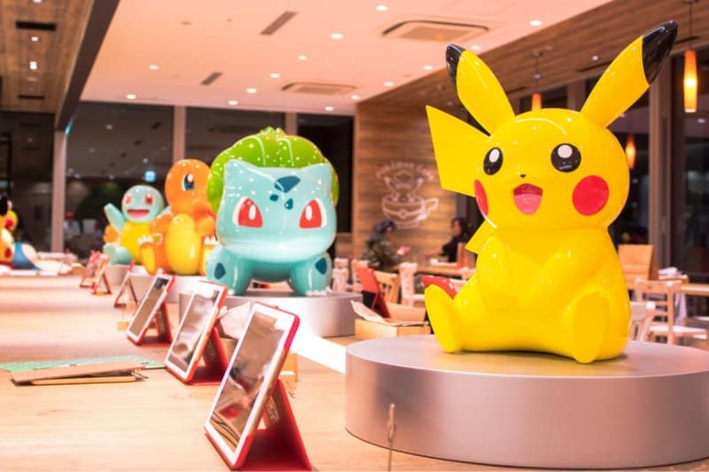 Pokemon Cafe Tokyo Table Decorations