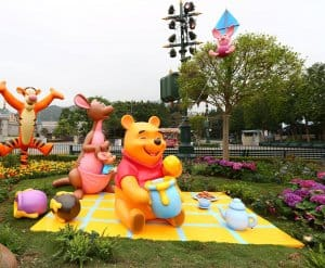 Disney Friends Springtime Gardens at Hong Kong Disneyland