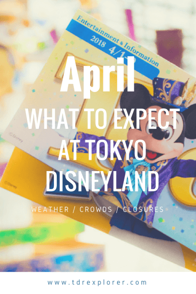 April Tokyo Disney Resort Pinterest